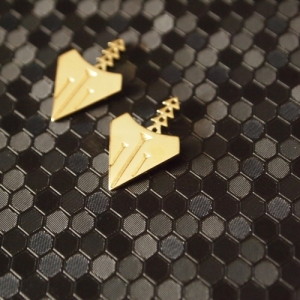 """Cityfox"" Rear - Ear Jackets - Gold"