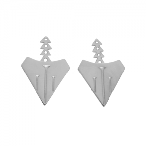 """Cityfox"" Rear - Ear Jackets - Silver"