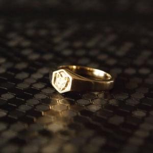 """Cityfox"" Signet - Ring - Gold"