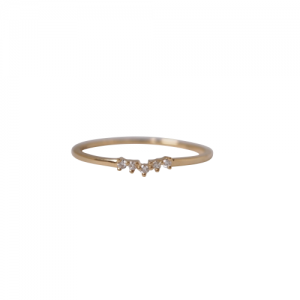 """Solitaire"" Diamond White Curva - Ring - 18 Karat Gold"