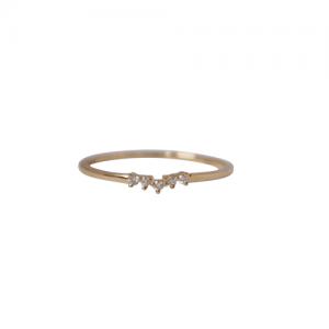 """Solitaire"" Diamond White Curva - Ring - 18 Karat Gold"