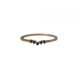 """Solitaire"" Diamond Black Curva - Ring - 18 Karat Gold"