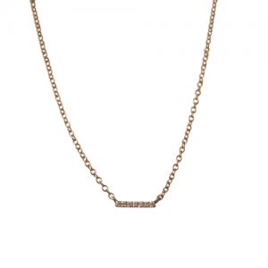 """Stripes & Joist"" Bar Seven Diamond White - Necklace - 18 Karat Gold"