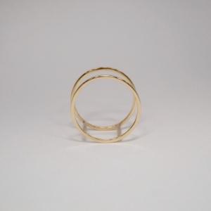 """Stripes & Joist"" Double - Ring - 18 Karat Gold"