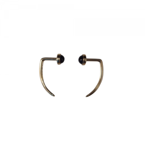 """Petit Point"" Onyx - EarSpike - 18 Karat Gold"