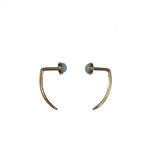 """Petit Point"" Larimar - EarSpike - 18 Karat Gold"