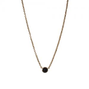 """""""Petit Point"""" Onyx - Necklace - 18 Karat Gold"""