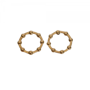 """Moon"" Full Phase - Stud Earring - Gold"