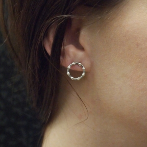 """Moon"" Full Phase - Stud Earring - Silver"
