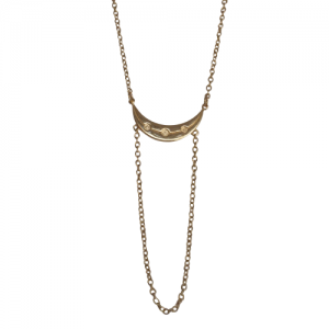 """Moon"" Half Phase - Collier - Gold"