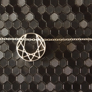 """Trinity"" Planet - Necklace - Silver"