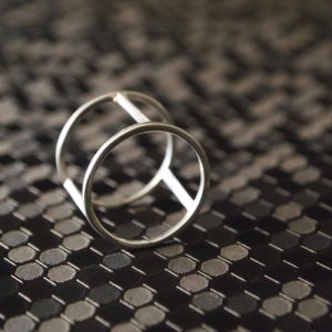 """Trinity"" Cage - Ring - Silver"
