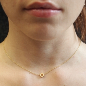 """Cleometra"" Hexagon Orbit - Necklace - Gold"