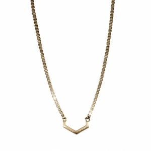 """Cleometra"" Hexagon Cut - Necklace - Gold"
