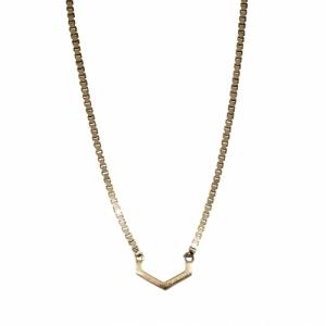 """Cleometra"" Hexagon Cut - Necklace - Gold"