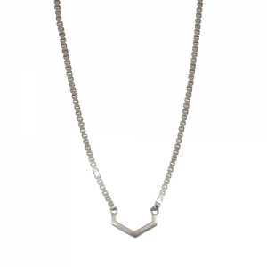 """Cleometra"" Hexagon Cut - Necklace - Silver"