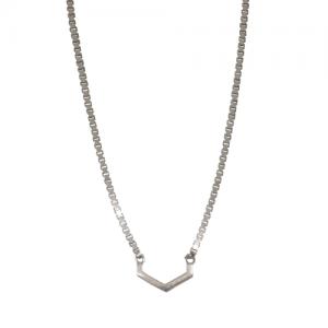 """""""Cleometra"""" Hexagon Cut - Necklace - Silver"""