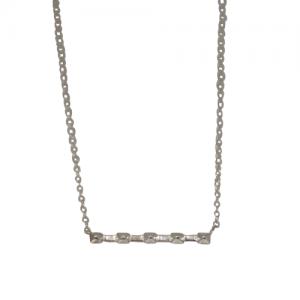 """Cleometra"" Pyramid Rivets Row - Necklace - Silver"