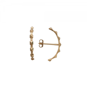 """Cleometra"" Pyramid Rivets Row - Stud Earring - Gold"