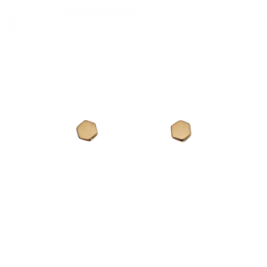 """Cleometra"" Hexagon Tiny - Stud Earring - Gold"