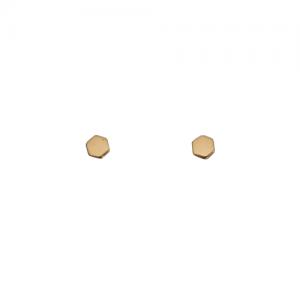 """Cleometra"" Hexagon Tiny - Stud Earring - Gold"