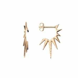 """Cleometra"" Sun - Stud Earring - Gold"