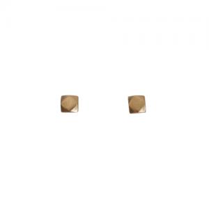 """Cleometra"" Hexagon Square - Stud Earring - Gold"