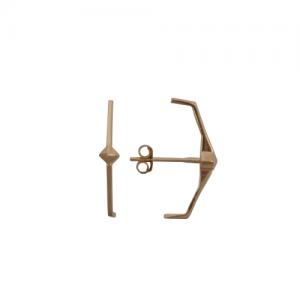 """Cleometra"" Pyramid Rivets Tron - Stud Earring - Gold"