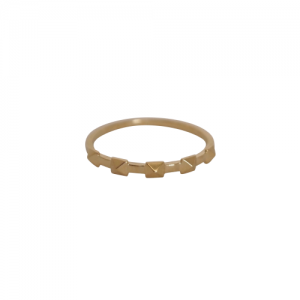 """Cleometra"" Pyramid Rivets Row - Ring - Gold"