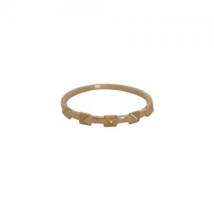 """Cleometra"" Pyramid Rivets Row - Ring - Gold"