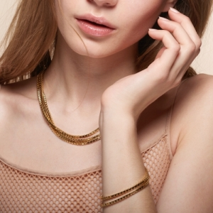 """Cleometra"" Square Mega - Collier - Gold"