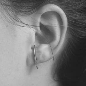 """Curvaceous"" Curva - Stud Earring - Silver"