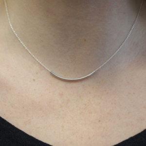 """Curvaceous"" Curva Big - Necklace - Silver"