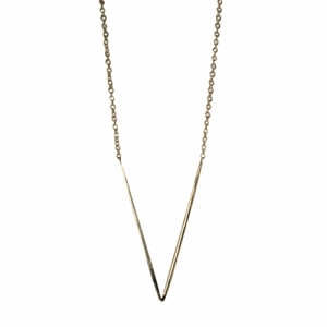 """Smilodon"" V - Necklace - Gold"