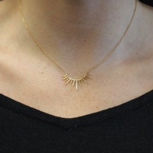 """Smilodon"" Rim - Necklace - Gold"