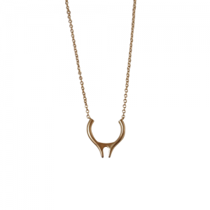 """Smilodon"" Vertical - Necklace - Gold"