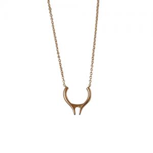 """Smilodon"" Vertical - Necklace - Gold"