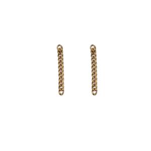 """Curb"" Classic Chain - Stud Earring - Gold"