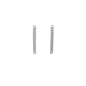 """Curb"" Classic Chain - Stud Earring - Silver"