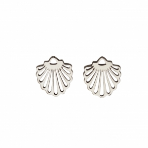 """Hummingbird Shell"" Classic - Stud Earring - Silver"