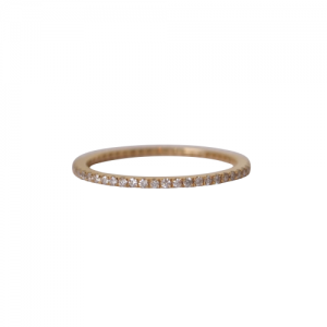 """Stripes & Joist"" Bar Infinity Diamond White - Ring - 18 Karat Gold"