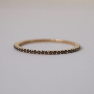 """Stripes & Joist"" Bar Infinity (1) Diamond Black - Ring - 18 Karat G.."
