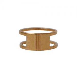 """Stripes & Joist"" Bar Three - Ring - Gold"