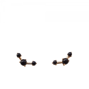 """Petit Point"" Onyx Musca Constellation - Stud Earring - 18 Karat Gold"