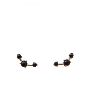 """Petit Point"" Onyx Musca Constellation - Stud Earring - 18 Karat Gold"