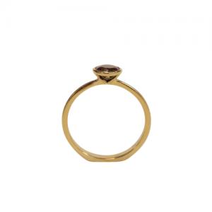 """Trinity"" Black Opal Solitaire - Ring - 18 Karat Gold"