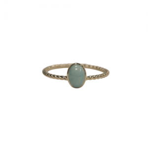 """Sophie"" Ellipse Twist Larimar - Ring - Silver"