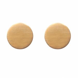 """Spot Classic"" Mat Big - Stud Earring - Gold"