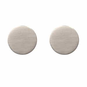 """Spot Classic"" Mat Big - Stud Earring - Silver"