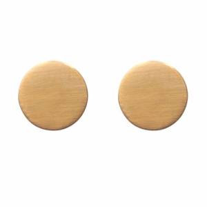 """Paillette"" Single Big - Stud Earring - Gold"